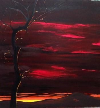 """""""Melancholy Of Autumn"""" #Creative #Art in #painting @Touchtalent"""