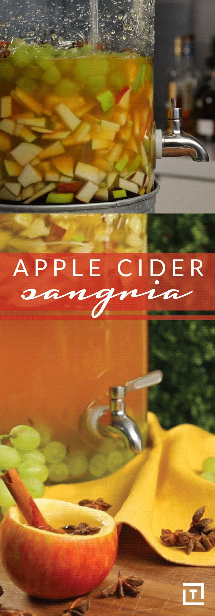 With a hearty serving of apples, pears, cinnamon, apple cider, vodka, and wine, Inspired by Charm's apple cider sangria is perfect for fall. A drink like this deserves to be served in a My Life And Kids-inspired hollowed-out apple, because what else would you serve it in?