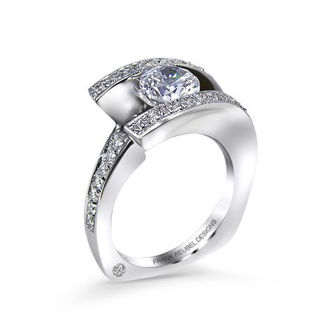 Modern Engagement Ring Designs | Contemporary Engagement Ring Designs by Frank Reubel Designs