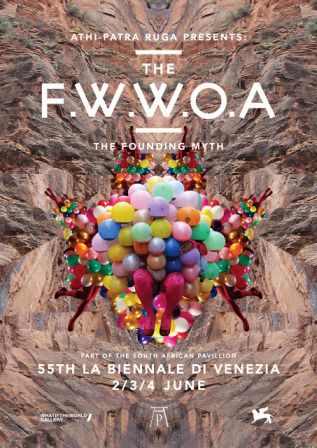 Poster, Athi-Patra Ruga, Future White Women of Azania, performance intervention as part of the South Africa Pavilion, Venice