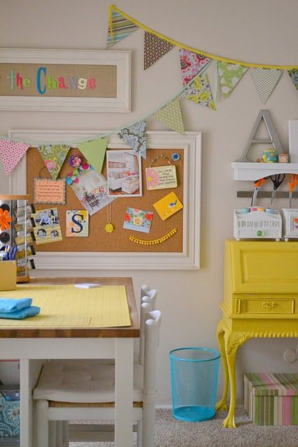 My parents have a desk similar to the yellow one.  It may soon go missing from their house!