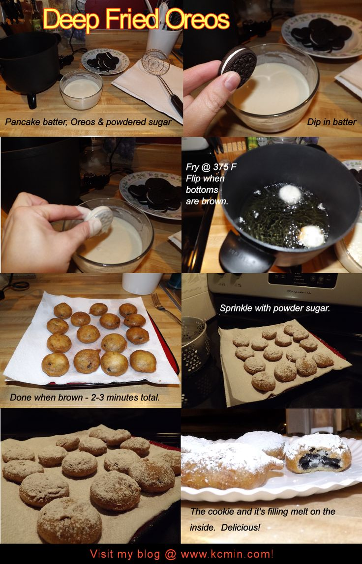 Deep Fried Oreos - Free & Easy Recipe @ www.kcmin.com