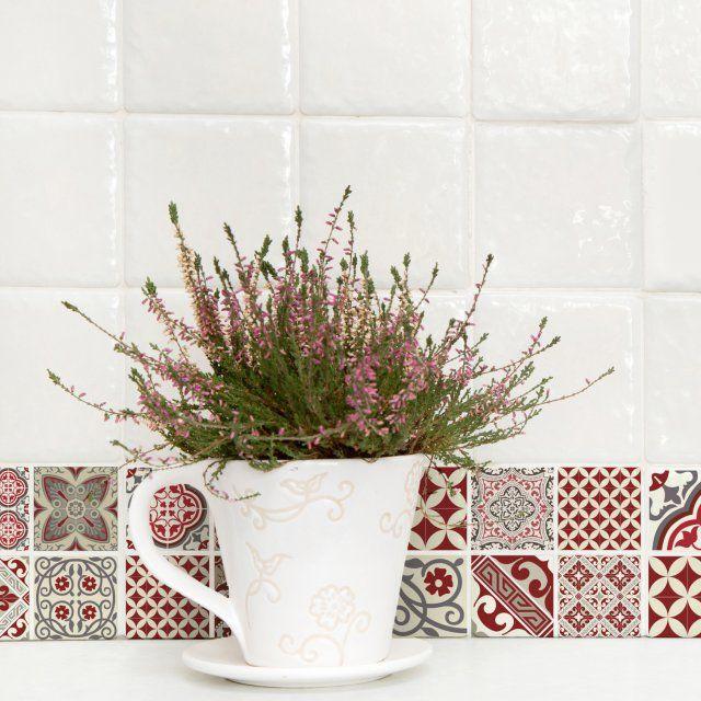17 best images about inspiration pour notre cuisine d 39 t - Credence carreaux de ciment ...