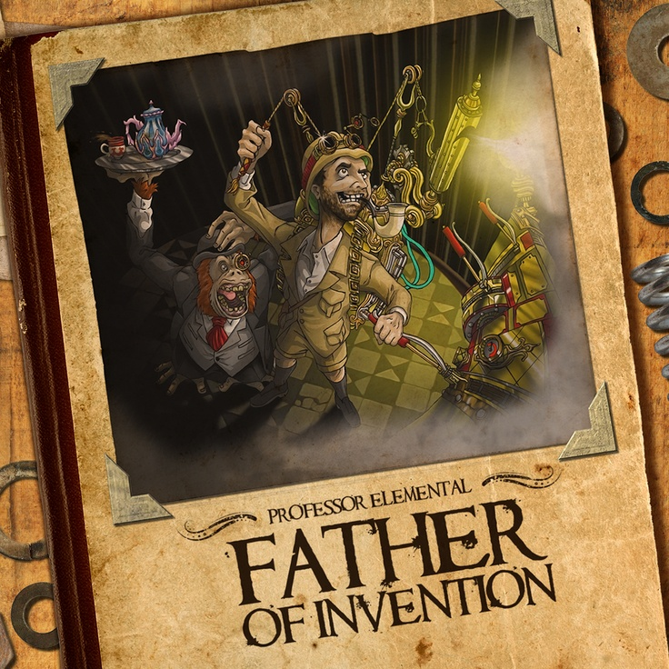 Father Of Invention cover art - PROFESSOR ELEMENTAL ON BANDCAMP