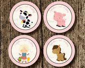 Artículos similares a Sticker de animales de granja - etiqueta animales granja - etiqueta caballo - cumpleaños granja - baby shower granja - etiqueta caballo en Etsy