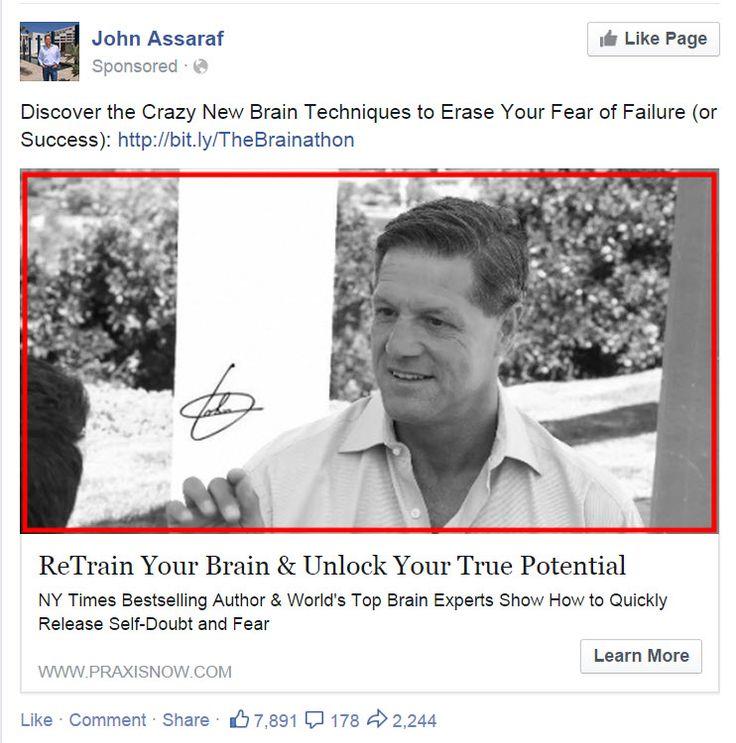 John Assaraf FB Ad