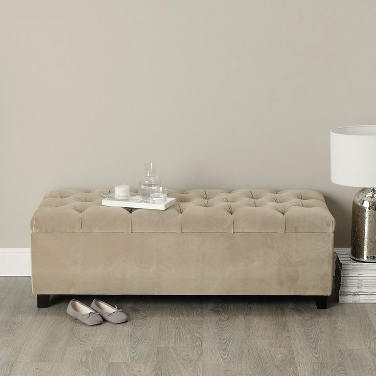 Richmond Ottoman - Seating | The White Company