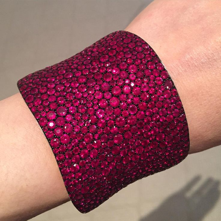 GABRIELLE'S AMAZING FANTASY CLOSET   Ruby Pave Cuff Bracelet   You can see the Rest of the Outfit and my Remarks on this board. - Gabrielle