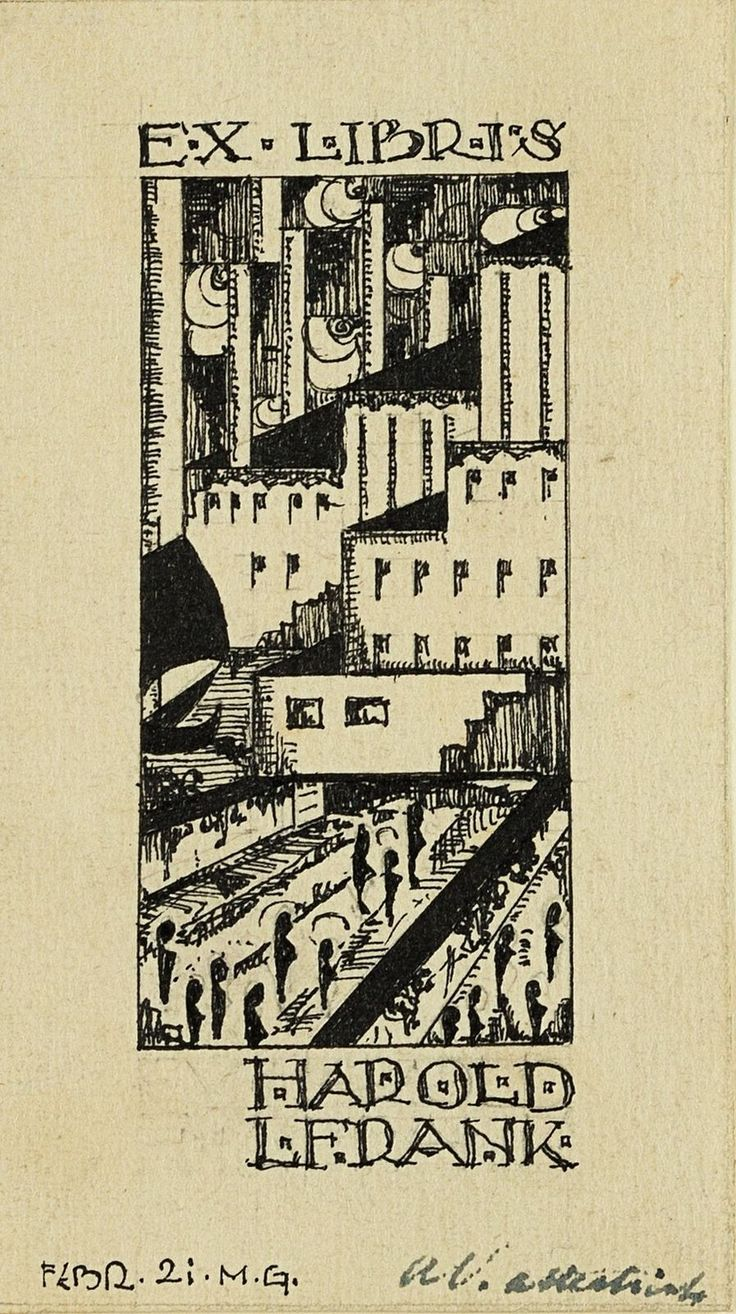 Marinus U.M. Gewin (1900 Obermenzing 1976). Ex Libris Entwurf für Harold L. Fran | Antiquitäten & Kunst, Kunst, Künstlerische Zeichnungen | eBay!