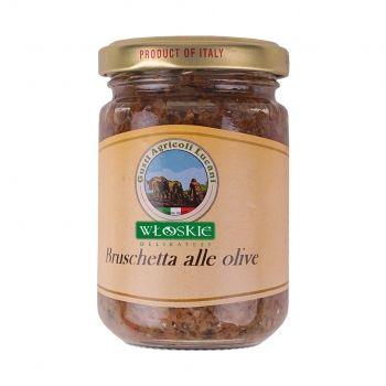 Bruschetta Olive to wyjątkowa siekanka z oliwek o bardzo skoncentrowanym smaku tych owoców i aromatu ziół. Idealna do sosu do makaronu, jako nadzienie do pierogów czy też jako składnik winegretu i sałatek.