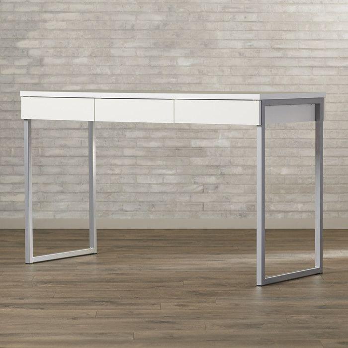 Brayden Studio Writing Desk & Reviews   Wayfair    shallow desk    DC col inspo