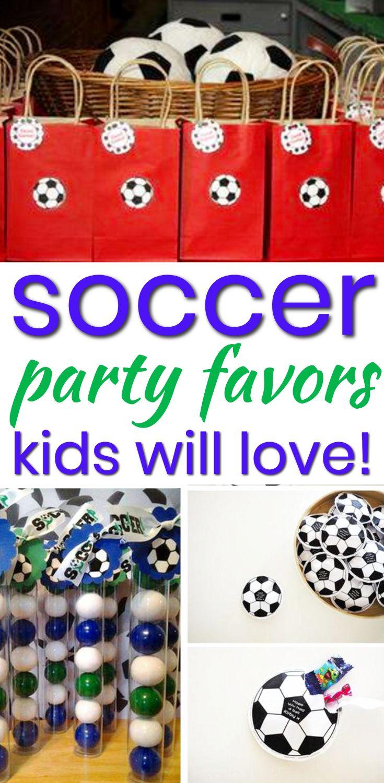Soccer Party Favor Ideas Soccer Party Favors Soccer Birthday Favors Party Favors For Kids Birthday
