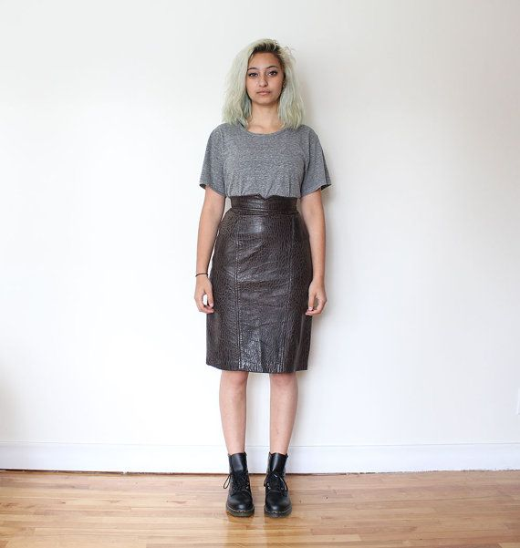 Vintage Leather Skirt 60