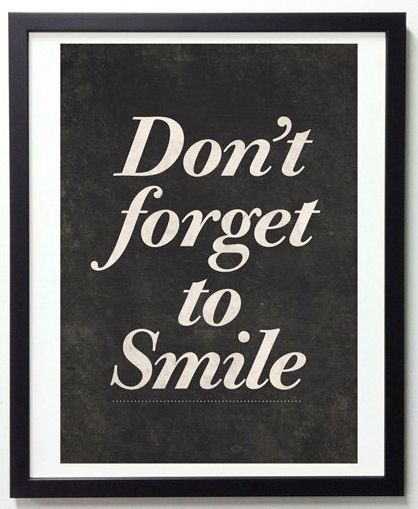 Don't forget to sMiLe Motivational Quote Wall Art ♥ Perfect for that special someone going thru a rough time! {Divorce, Death or Just Life}