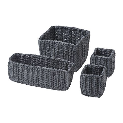 IKEA - NORDRANA, Basket, set of 4, , Each basket is unique since they are handmade.