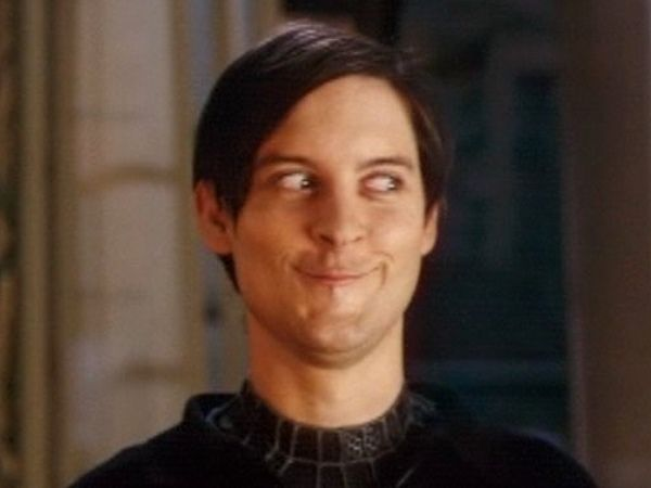 Peter parker spiderman meme face