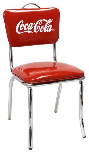 コカコーラ Vチェア おしゃれ カフェチェア/ダイニングチェア/イス/椅子/いす アメリカンダイナー家具 おしゃれ アメリカンレトロインテリア家具 ガレージインテリア コカコーラ商品 コカコーラグッズ アメリカン雑貨