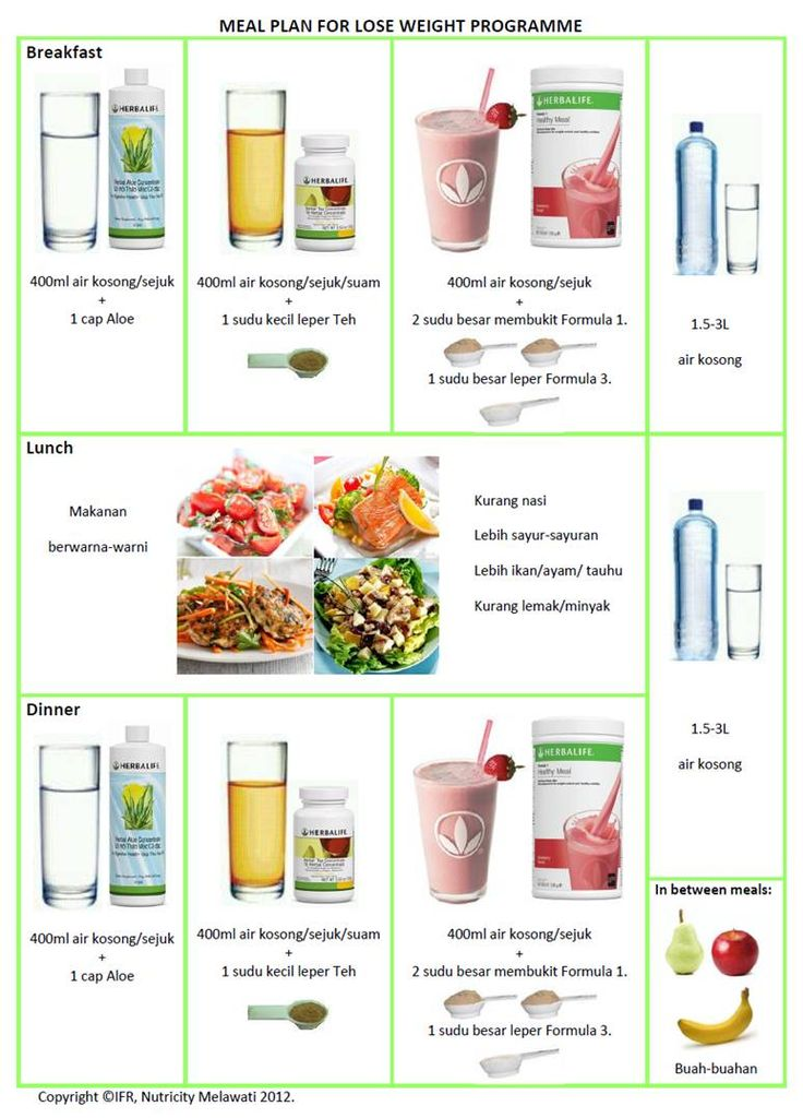 Herbalife Meal Plan and Workout | Pengedar Herbalife ...