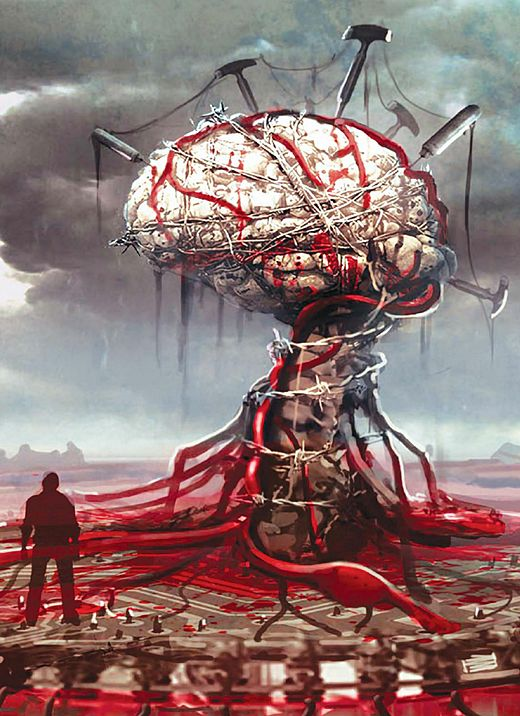 The evil within. Woah that brain looks awesome .w. *pokes it* -Will