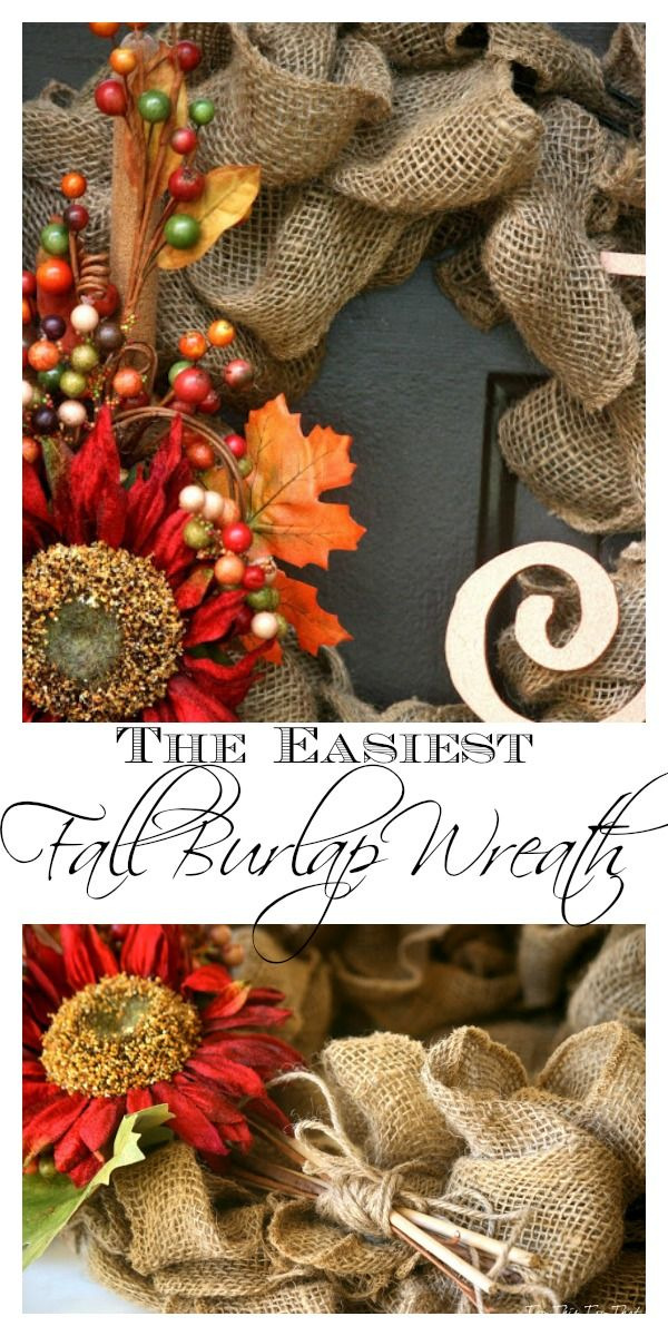 The Easiest Fall Burlap Wreath Tutorial Burlap Wreath