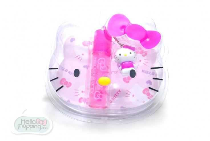 Hello Kitty: Glitter $159.00  Color rosa transparente con destellos .  Dije con la figura de Hello Kitty.