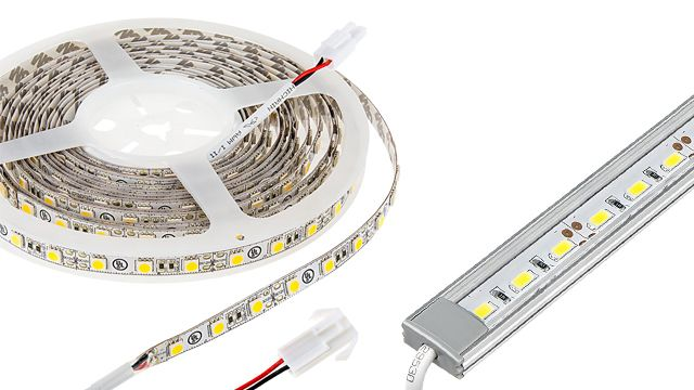 White Led Strip Lighting Kit 5m Under Cabinet Led Tape Light Wireless Rf Controller 150 Lm Ft Led Strip Lighting Led Tape Lighting Tape Lights