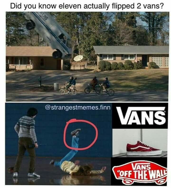 Actually 3 vans because max was wearing a pair of shoes, like any normal person