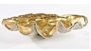 Large Clam Bowl with Antique Gold Interior  - Regina-Andrew Design
