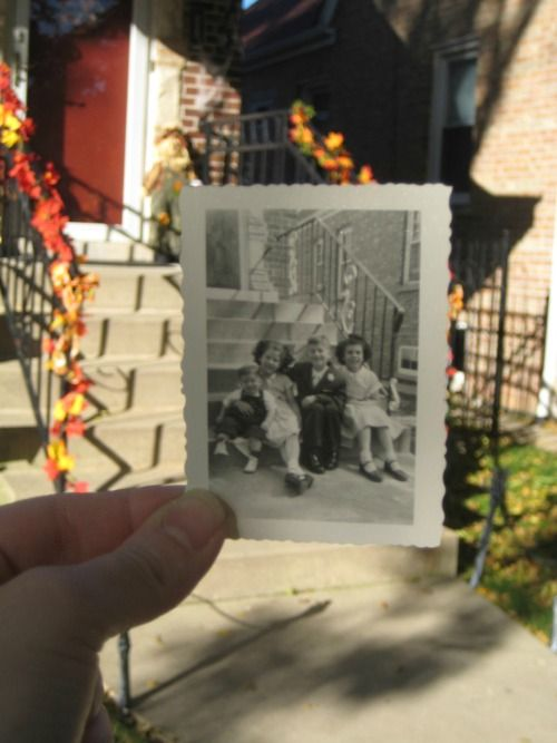 Dear Photograph,  Chicago and 1958, this is where my Dad built our home and then we filled it up with love. It's said you can never go home again but our memories take us there every time. I hope the family living there now enjoys it as much as we did.  -Anne