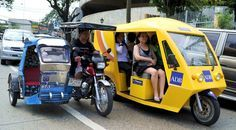 The Philippines is working to incorporate 20,000 electric tricycles into its traffic flow to reduce greenhouse gas emissions and cut high costs of inefficient vehicles. Photo via Asian Development Bank.