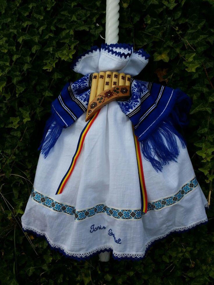Lumanare botez traditionala!