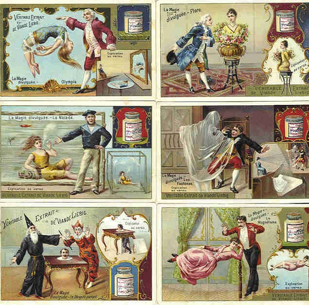 """""""Magic Revealed"""" Liebig Company trading cards from 1895"""