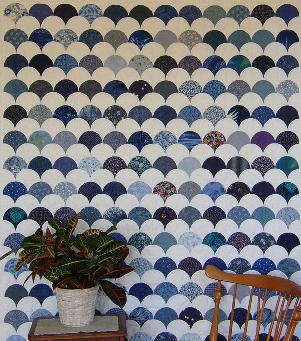 A beautiful 'Clamshell' quilt.