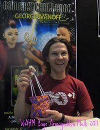 Aussie author, George Ivanoff, with his WAHM Bag.