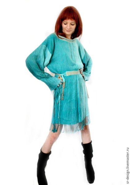 Платья ручной работы. Ярмарка Мастеров - ручная работа. Купить Платье бохо Бирюзовая вечеринка. Handmade. Бирюзовый, Платье нарядное