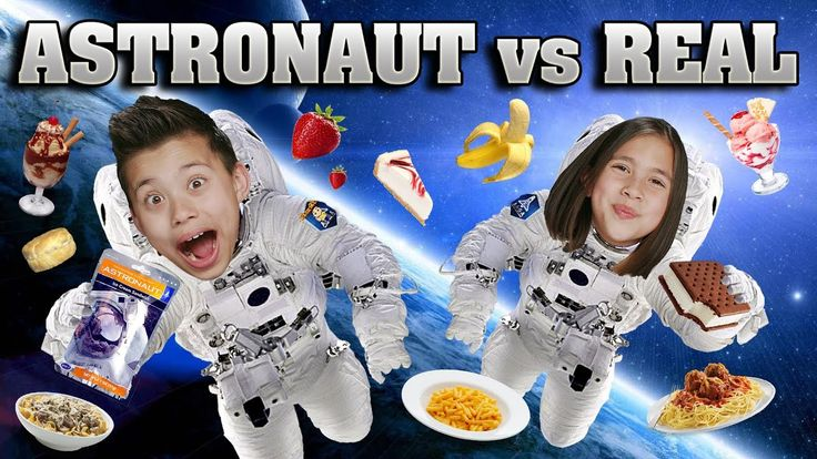 ASTRONAUT FOOD vs. REAL FOOD CHALLENGE!!! Outer Space Taste Test! - WATCH VIDEO HERE -> http://philippinesonline.info/trending-video/astronaut-food-vs-real-food-challenge-outer-space-taste-test/   Click here to see the GUMMY VS. REAL CHALLENGE: Click here to see the REAL VS. GUMMY Parents Edition:  GIANT GUMMY VIDEOS: World's Largest Gummy Worm vs. Kid: World's Largest Gummy Bear: Giant Gummy Candy Maker:  More Fun Game Challenges!: FANTASTIC GYMNASTICS CHALLENGE