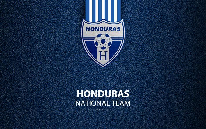 Download wallpapers Honduras national football team, 4k, leather texture, North America, logo, emblem, Los Catrachos, Honduras, football