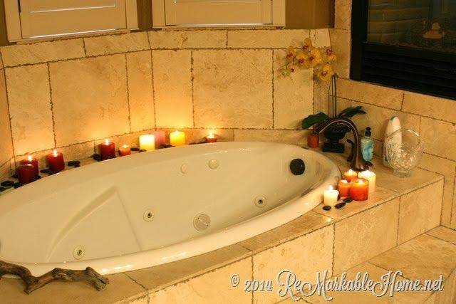 romantic spa night stay at home date idea