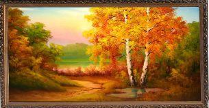 Золотая осень - Осенний пейзаж <- Картины маслом <- Картины - Каталог | Универсальный интернет-магазин подарков и сувениров