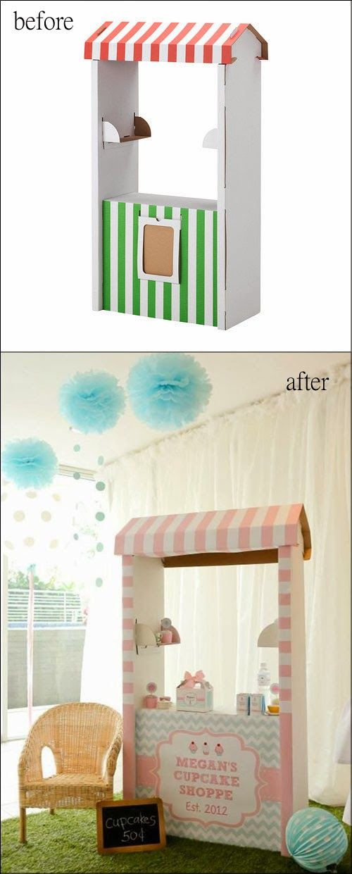 mommo design: IKEA HACKS FOR KIDS - Skylta shop makeover