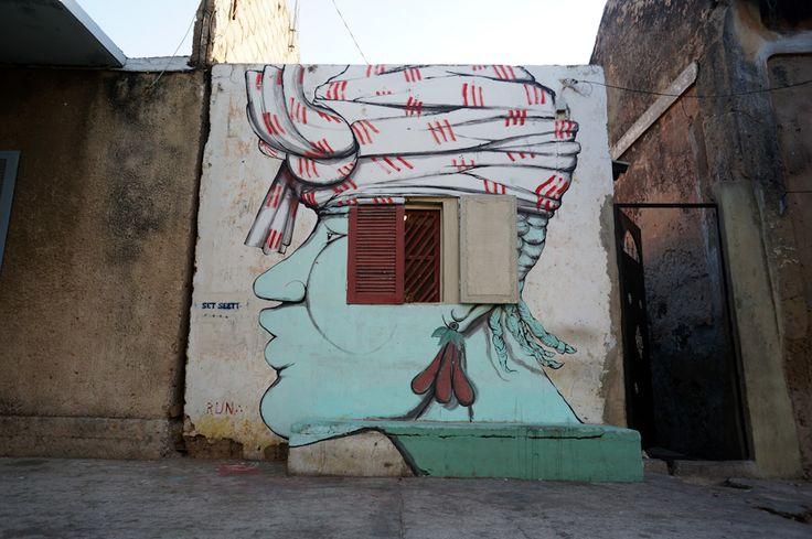 Artist : RUN. Place : Dakar, Senegal. Tags : street Art, graffiti, urban culture.