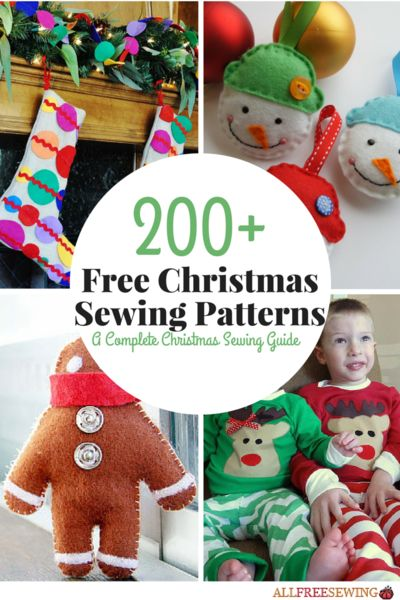 200+ Free Christmas Sewing Patterns: A Complete Christmas Sewing Guide | Be sure to check out all of our Christmas sewing collections on this giant page!