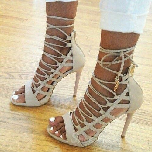 Steal Jessica Simpson S Pretty Half Up Wedding Hairstyle: Elegant White Lace-up/Ankle Wrap Stiletto Heel Sandals