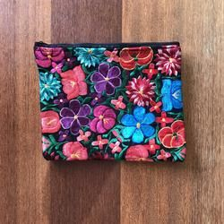 Floral Embroidered Clutch | Large