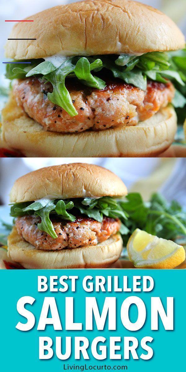 Salmon Burger Easy Grilled Salmon Patties Recipe Salmonburgers This Is The Best Grilled Salmon Burger Recipe Fir Rezeptideen Rezepte Gesund Fischburger