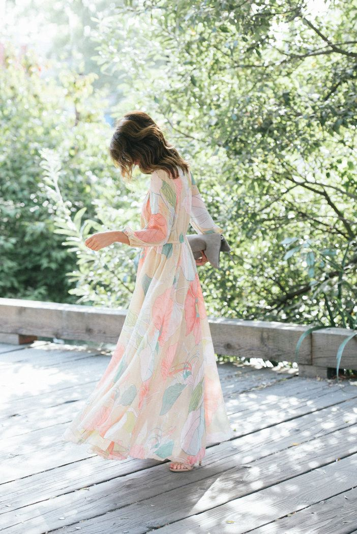 Modest floral printed ankle length dress   Mode-sty #nolayering