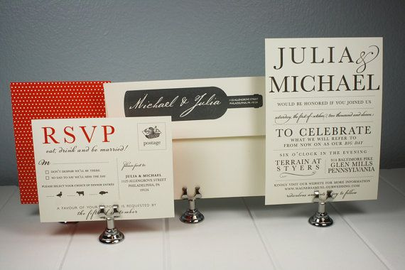 Vineyard Wedding Invitation Collection by LaBelleVieDesign, $8.00
