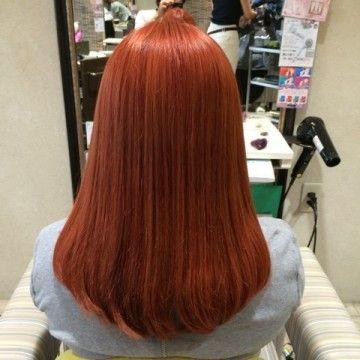 「ヘアカラー レッドオレンジ」の画像検索結果