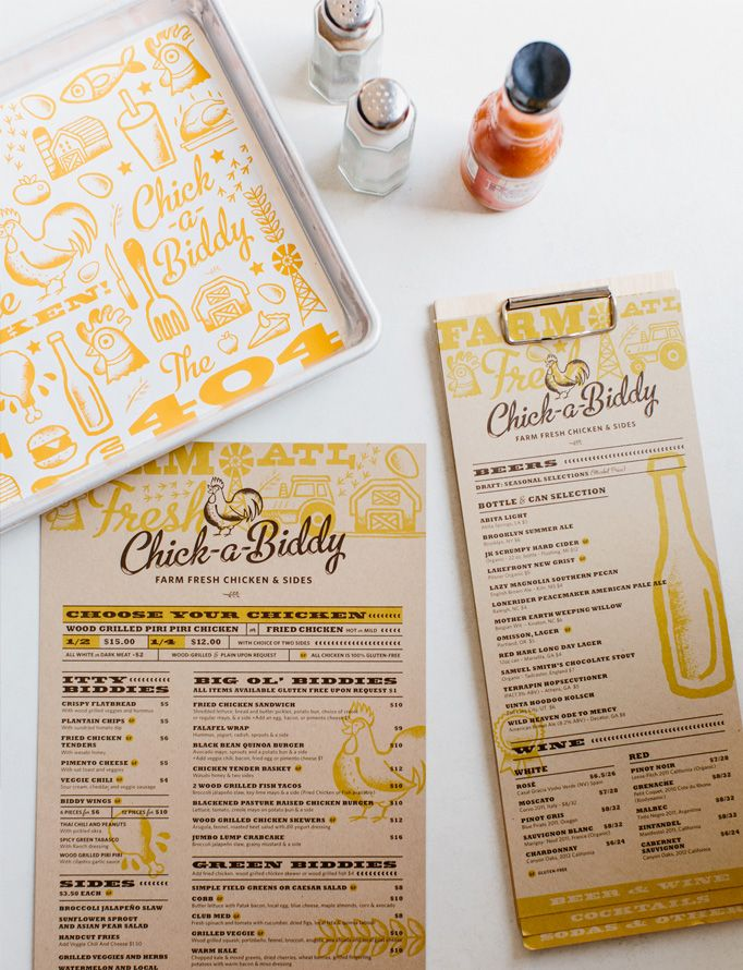 Chick-a-Biddy - Local Atlanta restaurant menu. Fresh and fun.