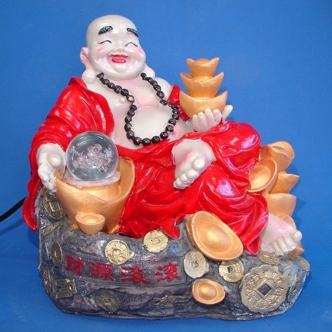 Buddha Water Fountain with Running Water and Crystal Ball
